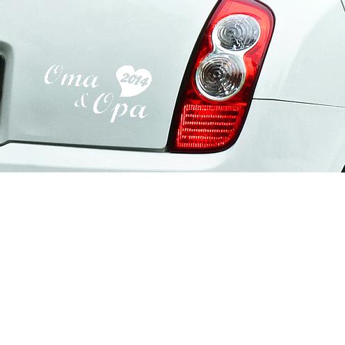 Auto Aufkleber Oma Und Opa 2014 Gro 223 Eltern In Wunschfarbe
