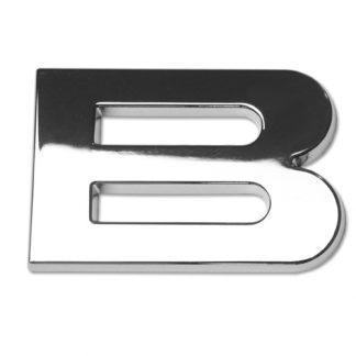 B, 3D Chrombuchstabe