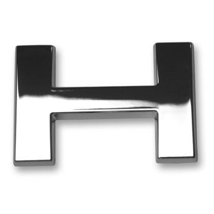 H, 3D Chrombuchstabe