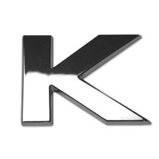 K, 3D Chrombuchstabe