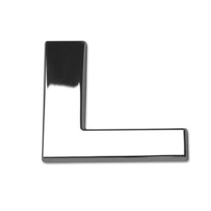 L, 3D Chrombuchstabe