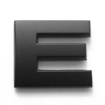 E, 3D Kunststoffbuchstabe, selbstklebend, mattschwarz