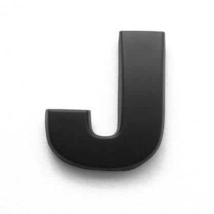 J, 3D Kunststoffbuchstabe, selbstklebend, mattschwarz