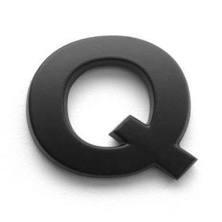 Q, 3D Kunststoffbuchstabe, selbstklebend, mattschwarz