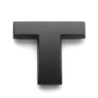 T, 3D Kunststoffbuchstabe, selbstklebend, mattschwarz