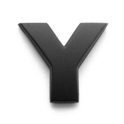 Y, 3D Kunststoffbuchstabe, selbstklebend, mattschwarz