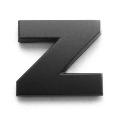 Z, 3D Kunststoffbuchstabe, selbstklebend, mattschwarz