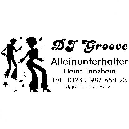 DJ Aufkleber z.B. für KFZ