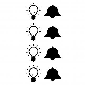 8 Aufkleber für Klingeltaster und Flurlicht