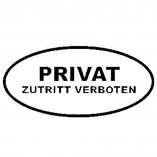 Privat, Zutritt verboten Aufkleber