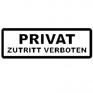 Privat Aufkleber